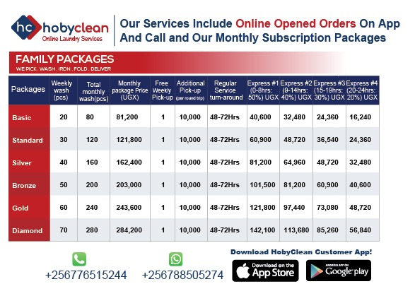 Hobyclean Family packages